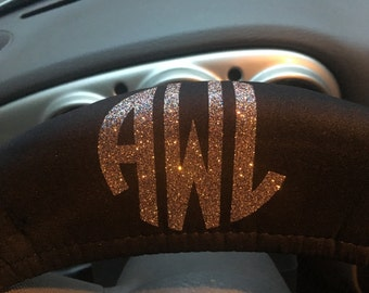 Monogrammed Steering Wheel Cover