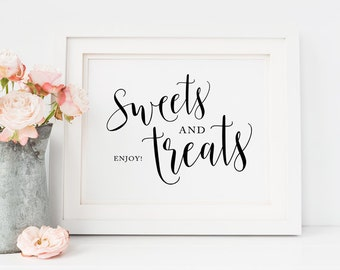 Dessert bar sign, Dessert sign, Printable Wedding favors sign, Wedding Sweets Sign, Party treats sign, wedding table decor, Candy bar sign