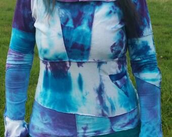 Tie dye heady pixie festival hoodie
