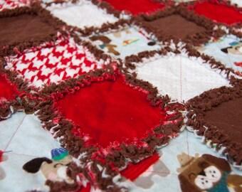 Cowboy/Pirate Dog Baby Blanket