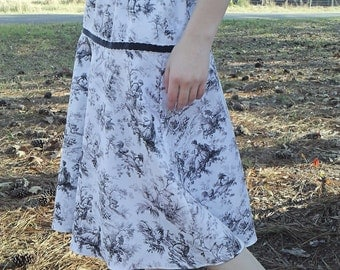 A-line skirt, toile skirt, ladies skirt, modest skirt, womens skirts, midi skirt, skirt for women, gift for her, gift for women
