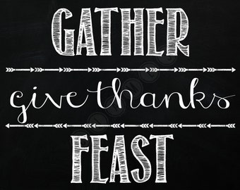 Gather-Give Thanks-Feast DIGITAL sign