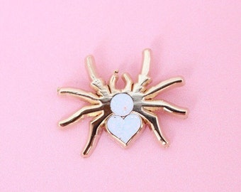 Itsby Bitsy Gold Spider Enamel Pin