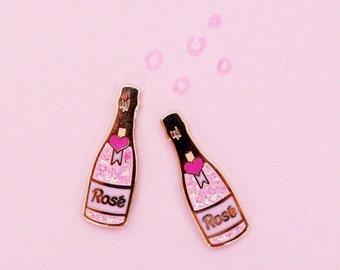 Rosé Wine Enamel Pin