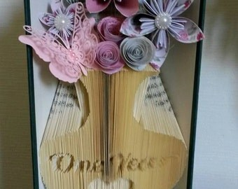 First Anniversary Vase  Book Folding Pattern (Combination fold)