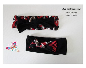simple band or duo diamond red/white/black