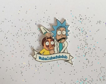 Rick and Morty Pin [brooch lapel pin]