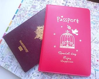 Passport holder Red