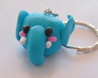 kawaii elephant keychain