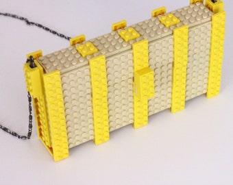 Cream and Yellow Lego Handbag with LEGO® bricks