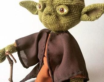 Amigurumi crohet Yoda toy