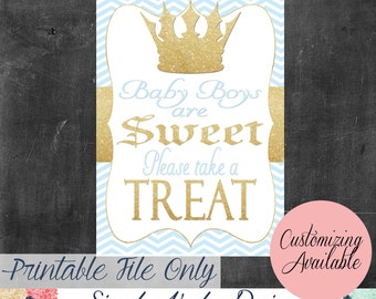 Little Prince Baby Shower Treat Table Sign