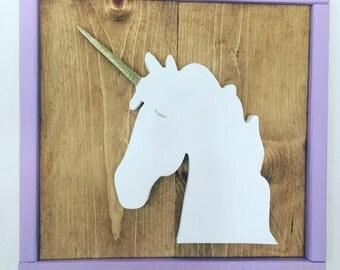 Unicorn Silhouette/Wooden Unicorn/Modern Kids room Decor/Unicorn Nursery Decor/Wall Art/Unicorn Wall Art
