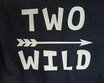 Two Wild, Arrow, Vinyl, Iron-On Decal, Vinyl Decal, Two Year Old, Birthday Shirt, Birthday Boy, Birthday Girl, Birthday Idea,