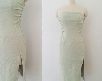 90's Seafoam Green Wiggle Dress