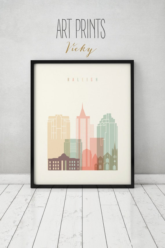 home decor outlet raleigh raleigh print raleigh poster raleigh skyline city 11078