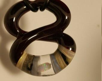 Glass Infinity Pendant