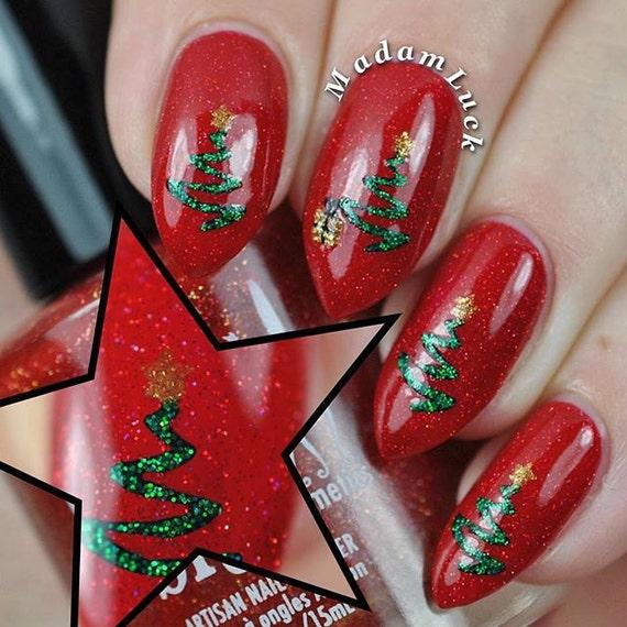 Ribbon Tree Stencils For Nails Christmas Nail By Whatsupnails