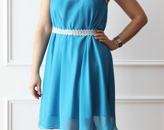Heavenly dress, chiffon dress, dress, dress, dress, bias cut.
