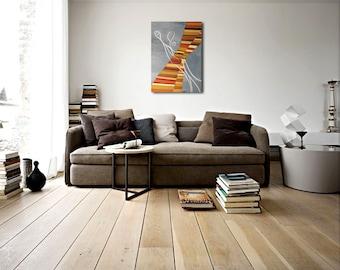 Original painting. Acrylic painting. Modern Art. Abstract art. Title: destiny