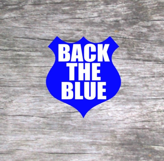 Back The Blue Car Decal Back The Blue Decal Police Lives