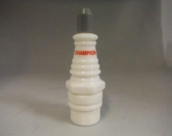 Vintage 1970's Avon Champion spark plug after shave bottle