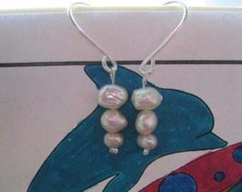 Fresh Water Pearl Pierced Earrings
