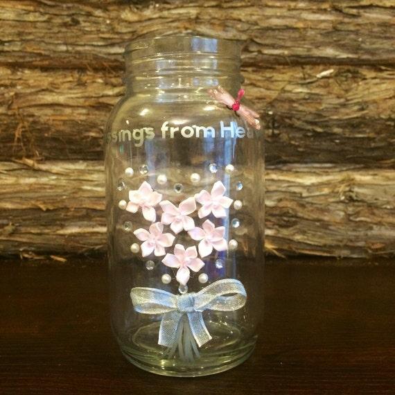 Baby Shower Decor With Mason Jars ~ Baby shower mason jar decor