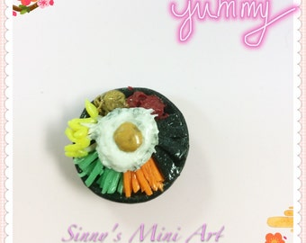 Sinny's hand made 1:12 dollhouse miniature clay Kroean food.