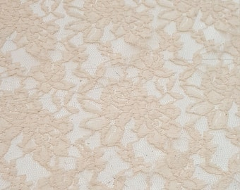 4 way Stretch lace Cream color with scalep