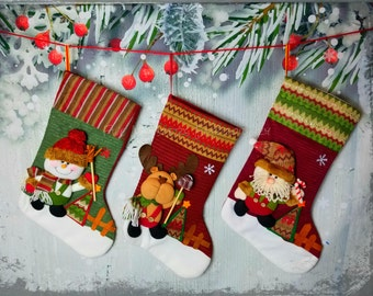 custom embroidered knit christmas stockings santa stocking snowman stocking christmas stocking monogrammed