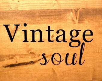 Small Vintage Soul Vinyl Decal