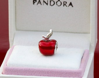 Authentic Pandora Disney Enamel Snow White Apple Bead