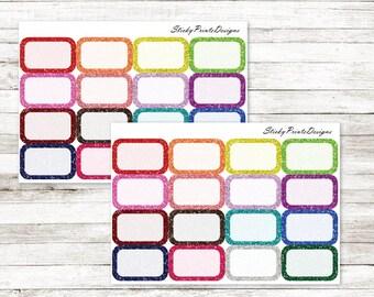 Multicolor glitter half boxes