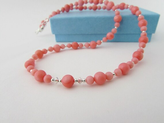 Coral Gifts 35th Wedding Anniversary: Coral Necklace Coral Jewellery 35th By Angelawarwickjewelry