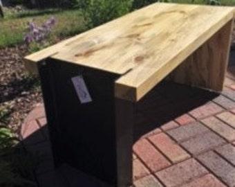 Bench-Steel & Wood