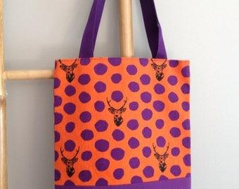 Bag deer echino fabric