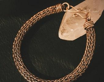 Brass Viking Knit Bracelet