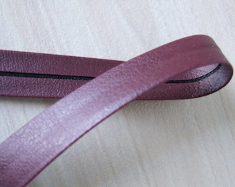 Burgundy brown Vegan leather bias tape, fake leather trim