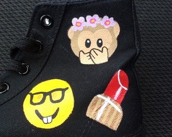 EMOJI Converse Shoes - hand painted