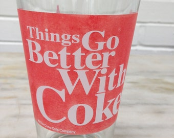 vintage Coke pint size glass Things Go Better With Coke slogan early 1960s
