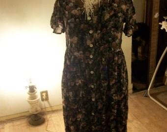 JONATHAN MARTIN Womens Black Floral Dress