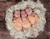 "The ""Nella"" Silk Wrap - Newborn - Baby - Photography Prop - Swaddle - Photo Shoot - Colorful - Gender Neutral - Basket Stuffer - Layering"