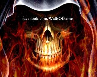 Original Artwork. Firey Skull
