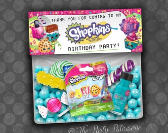 SHOPKINS Inspired Party Birthday Thank You Favor Bag Toppers / Instant Download  / Digital File