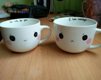 Kawaii emoticon mug