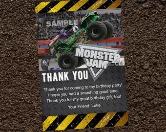 Grave Digger Monster Jam Thank You Card