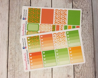 Pumpkin Themed Planner Stickers - Made to fit Vertical Layout