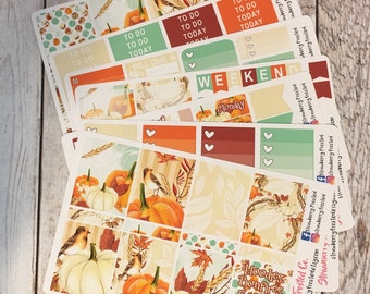 Fall is Here Themed Kit---- Weekly Planner Kit ---- {Includes 210+ Stickers}