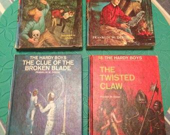 The Hardy Boys Books Set of 4, Vintage Hardy Boys Books 1964 to 1970 Vintage